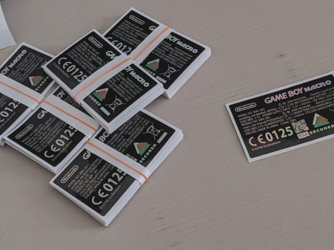 Gameboy Macro Label - Sticker